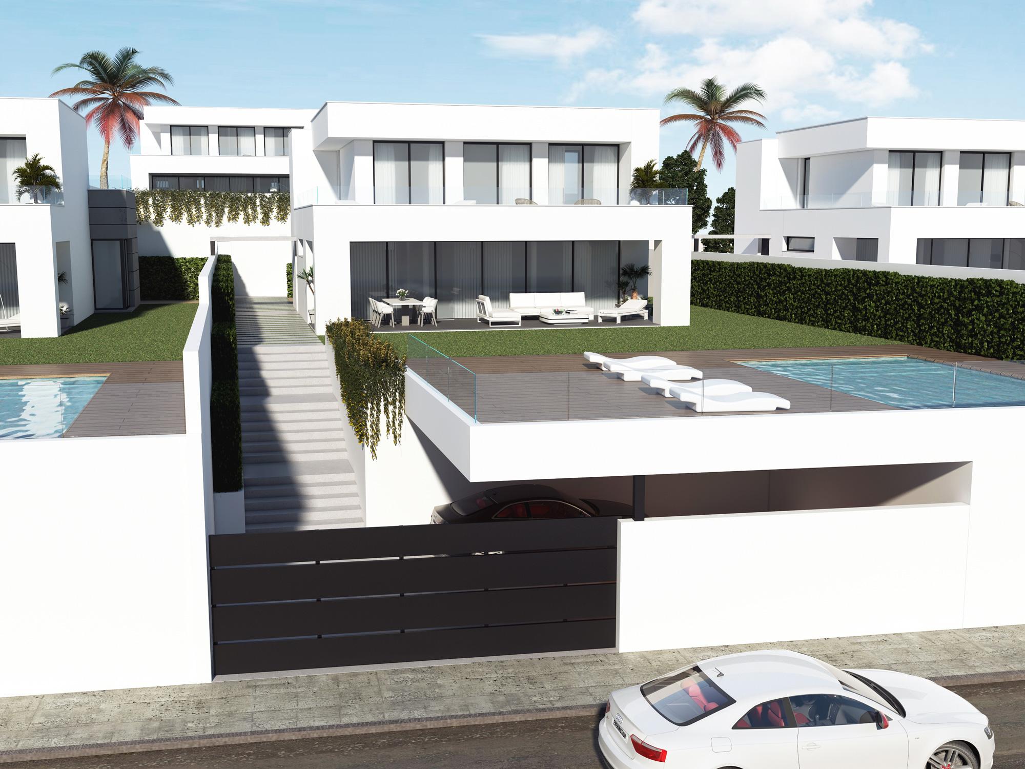 Calle aguamarina villa 18 villas duquesa for Entrada piscina